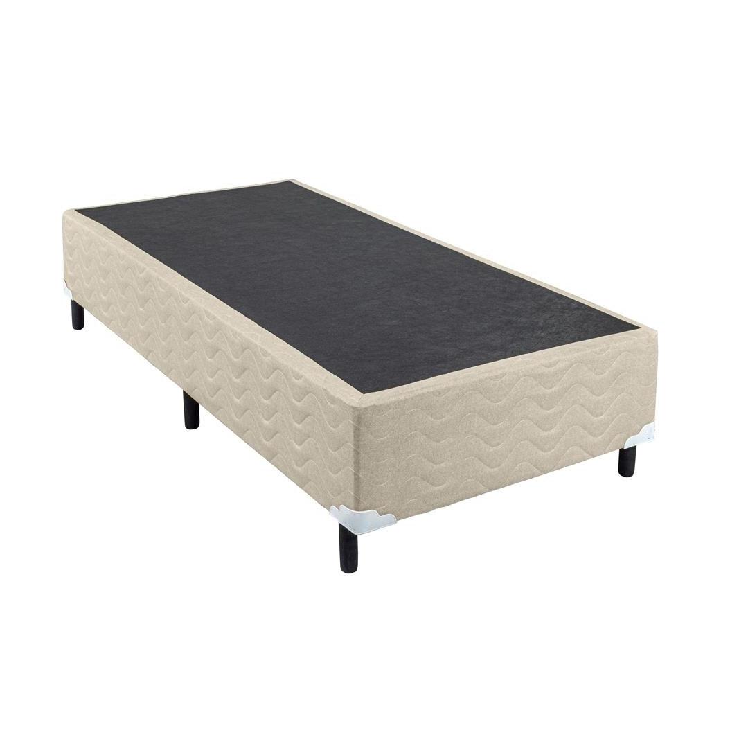 Base Box para Colchão Solteiro Lima Suriname 88x188x28 cm - Bege