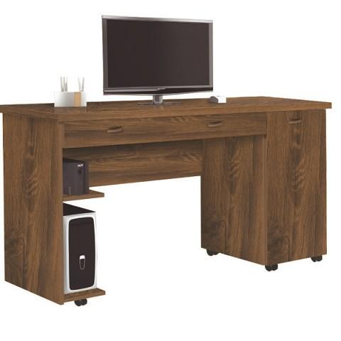 Escrivaninha/Mesa de computador Jaci Ariel cor Freijó
