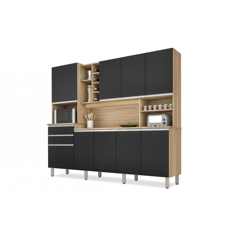 Kit Cozinha CSA BARCELONA Nature/Preto Fosco