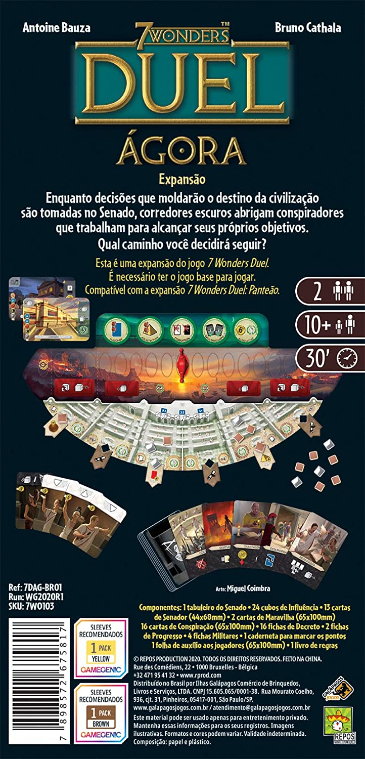 Board Game - 7 Wonders Duel Agora (Expansao)