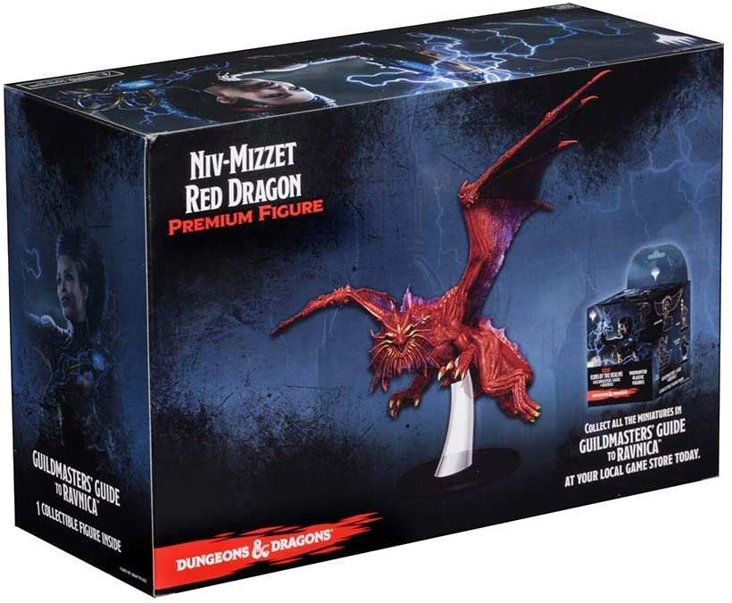 Dungeons Dragons DD Icons of the Realms Guildmasters Guide to Ravnica NivMizzet Red Dragon Premium Figure