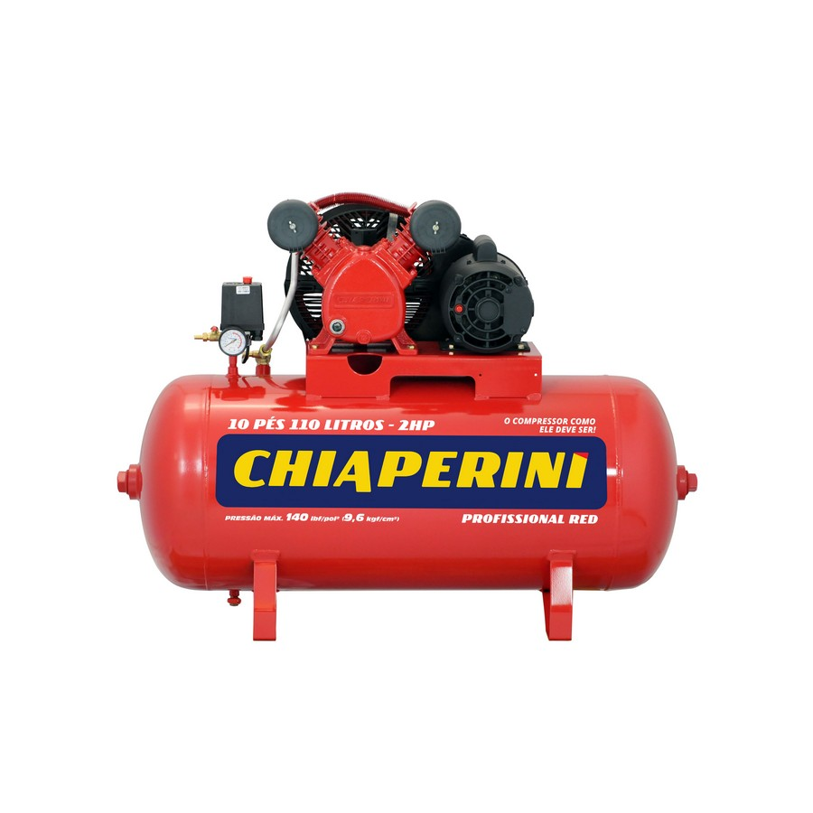 COMPRESSOR CHIAPERINI 10PES 2HP 140PSI 110LTS 110/220V MONOFASICO