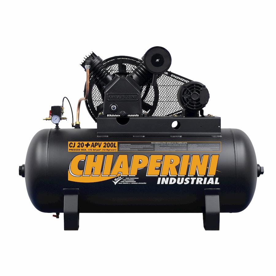 COMPRESSOR CHIAPERINI 20PES 5HP 175PSI 200LTS 220/380V TRIFASICO