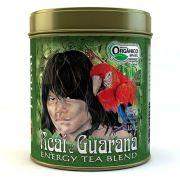 Chá Orgânico Mate Açaí Guaraná. Lata Granel 100g.
