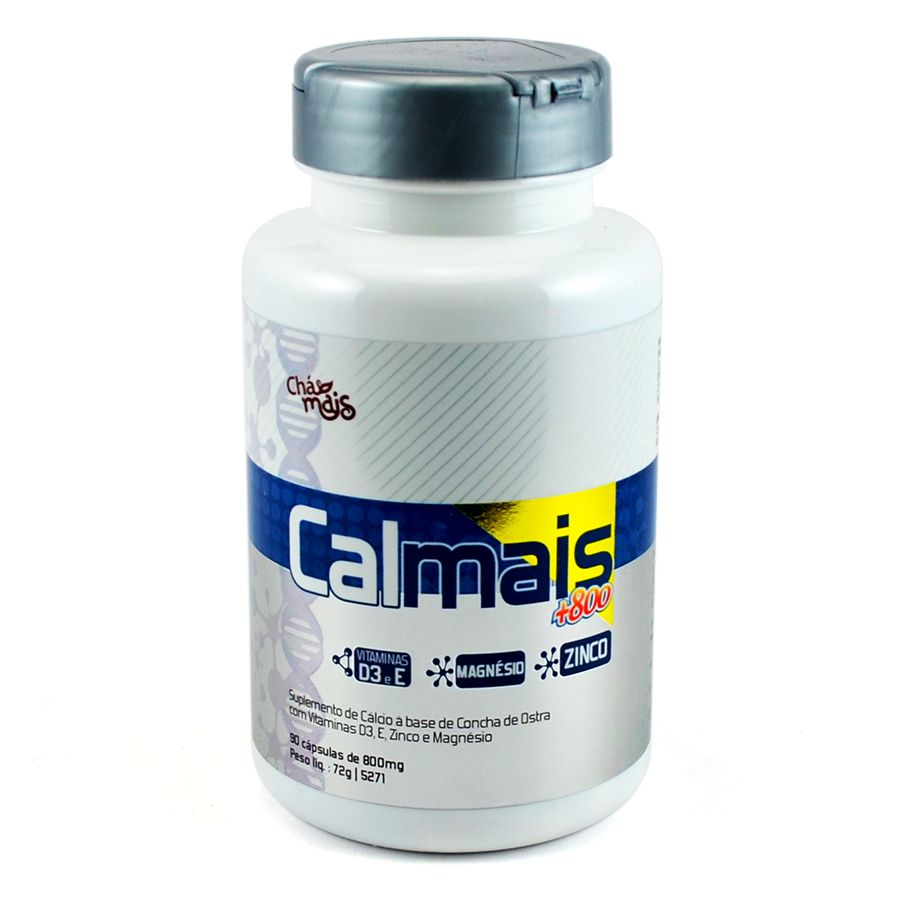Cálcio Magnésio Zinco Vitamina D e E 90 cáps 800mg