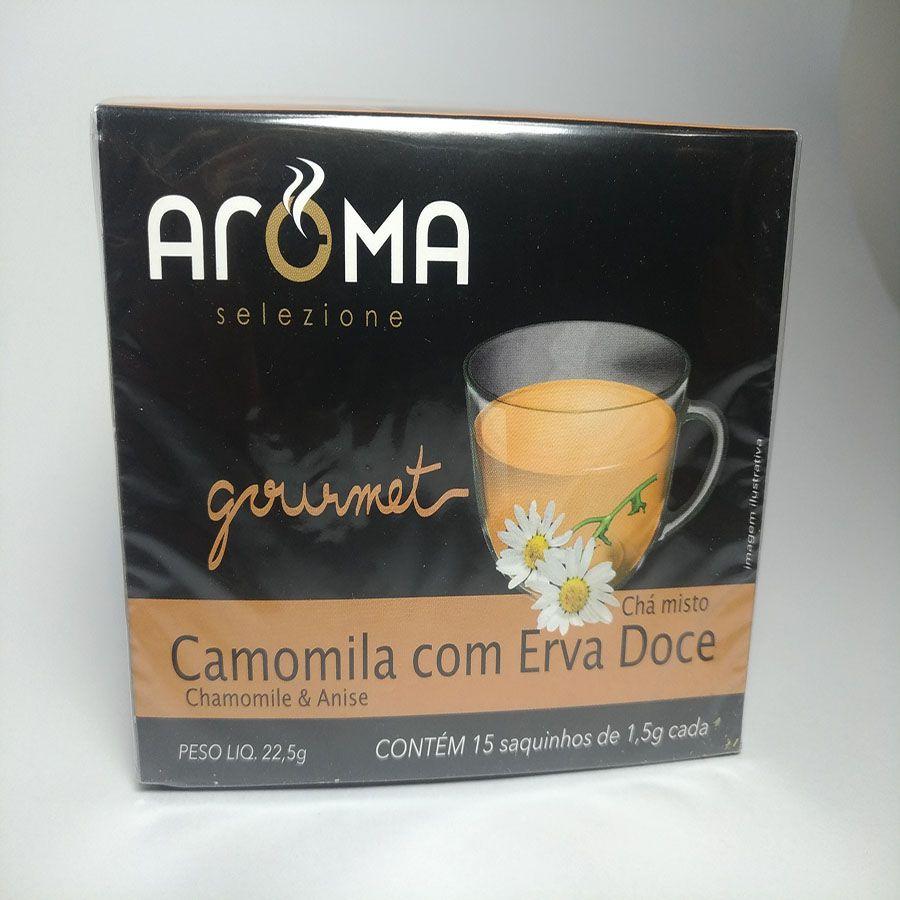 Chá Aroma Selezione Camomila com Erva Doce Sachê