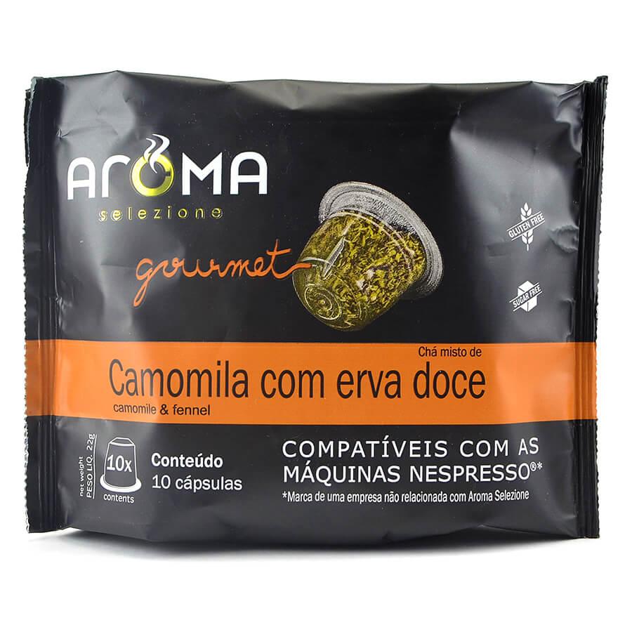 Chá Camomila com Erva Doce - 10 Cáps para Nespresso.