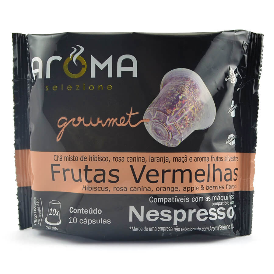 Chá Frutas Vermelhas - 10 Cápsulas para Nespresso