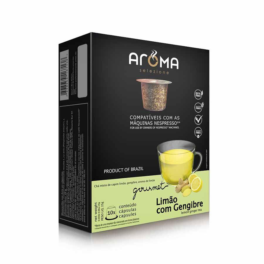 Chá Limão com Gengibre - 10 Cápsulas para Nespresso