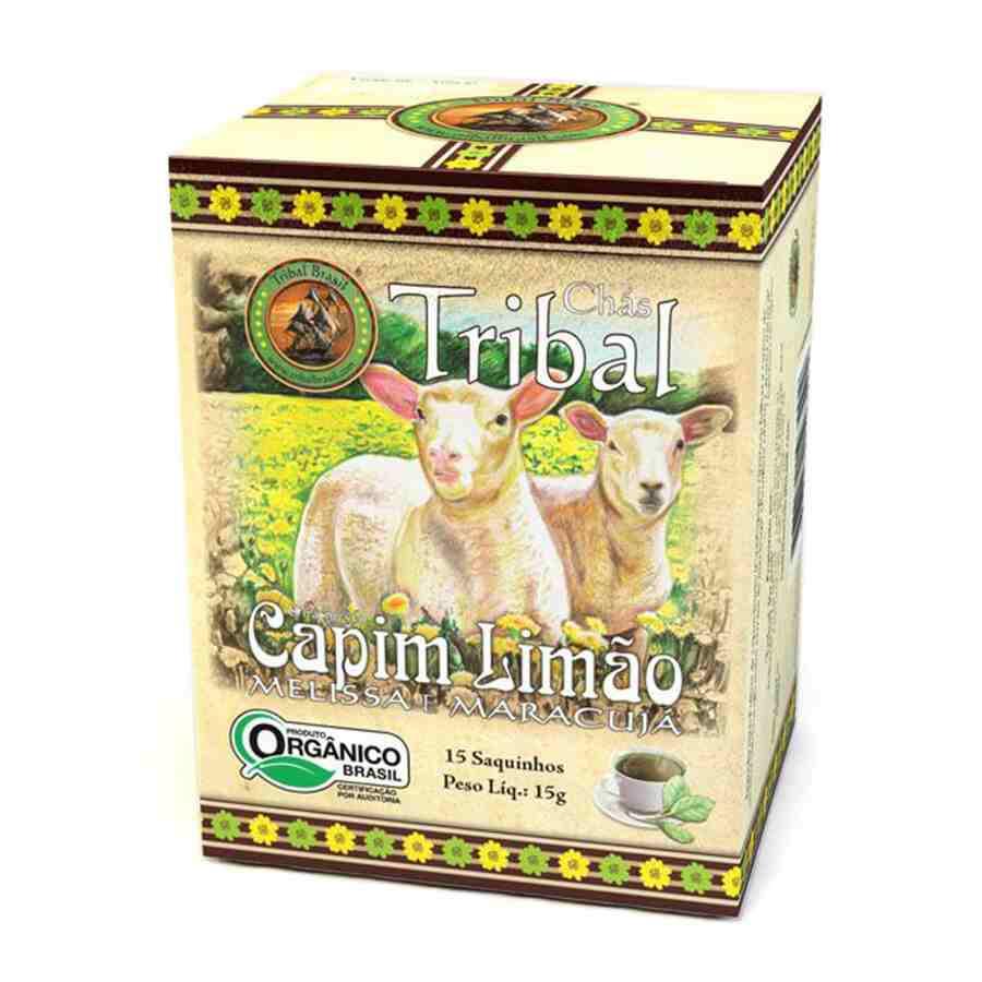 Chá Orgânico Capim-limão Melissa Maracujá - Tribal -15 sachês.