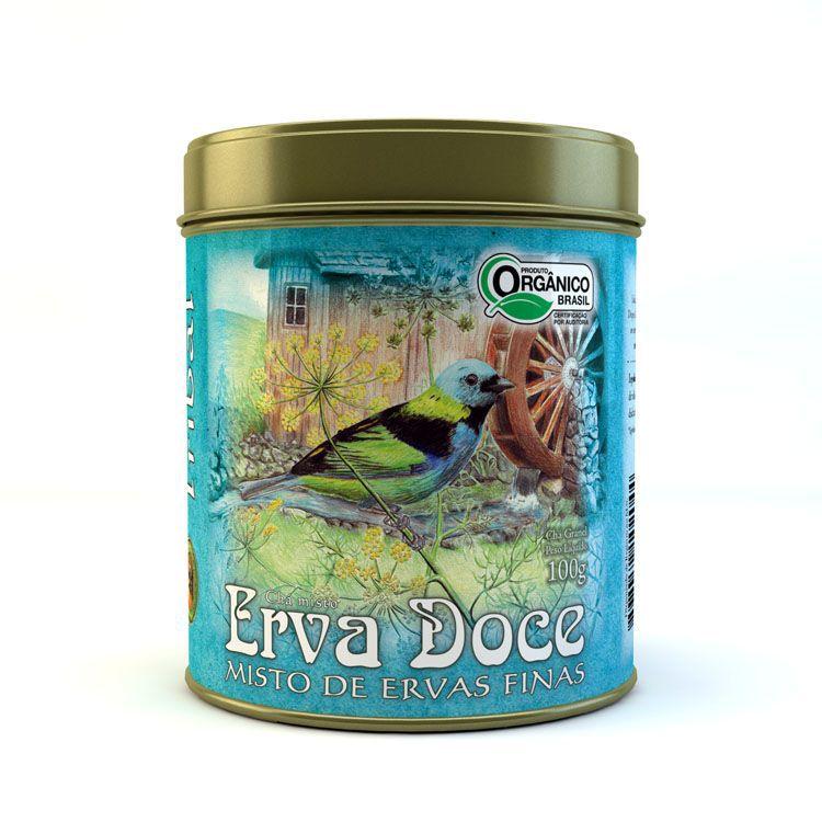 Chá Orgânico Erva Doce e Ervas Finas. Granel 100g