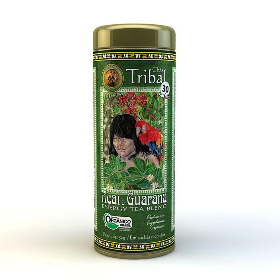 Chá Orgânico Mate Açai Guarana - Tribal - Lata 30 sachês