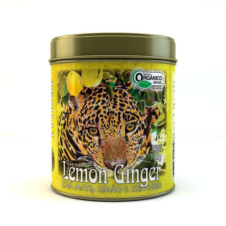 Chá Orgânico Mate Lemon Ginger a Granel. Lata 100g.