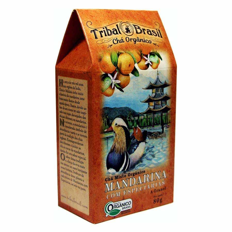 Chá Orgânico Mate Mandarina e Especiarias - Tribal - Caixa a Granel 80g