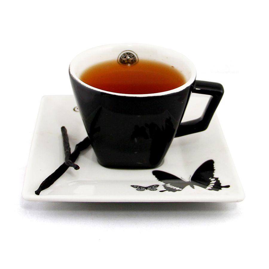 Chá Preto com Baunilha Importado a Granel 50g.