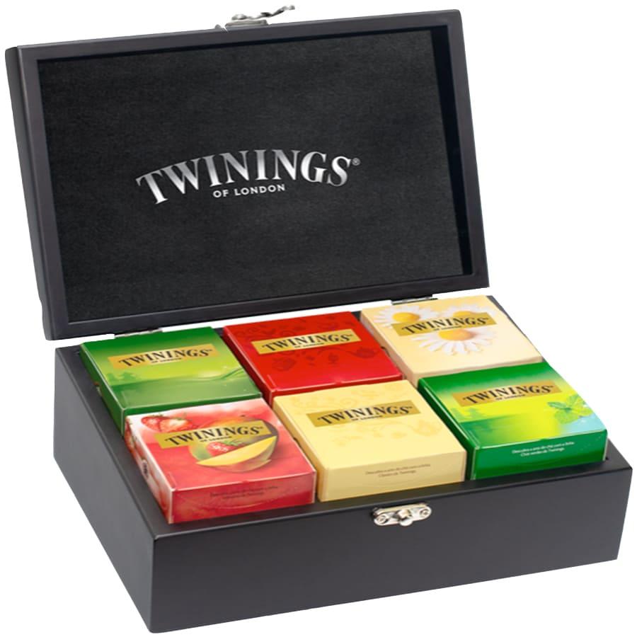 Chás Twinings - Caixa Madeira Coleção 60 Sachês