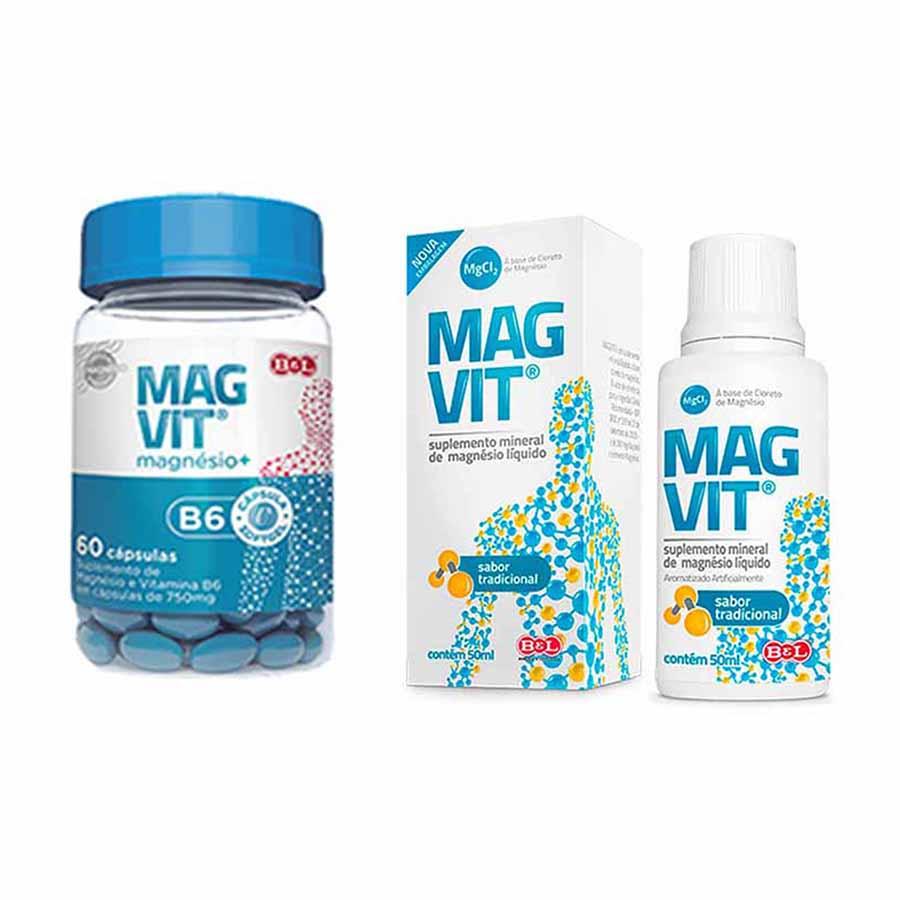 Cloreto de Magnésio em Gotas Magvit 50ml. Tradicional + Magvit B6