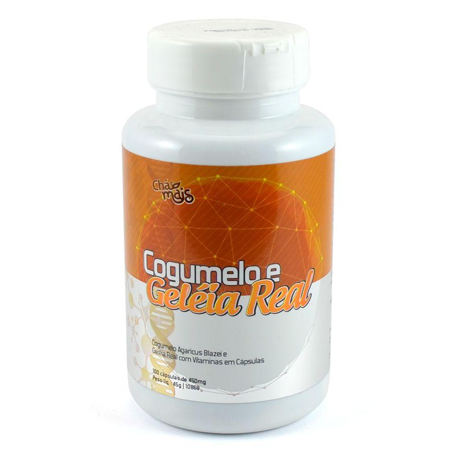 Cogumelo com Geleia Real e Vitaminas 100 cápsulas