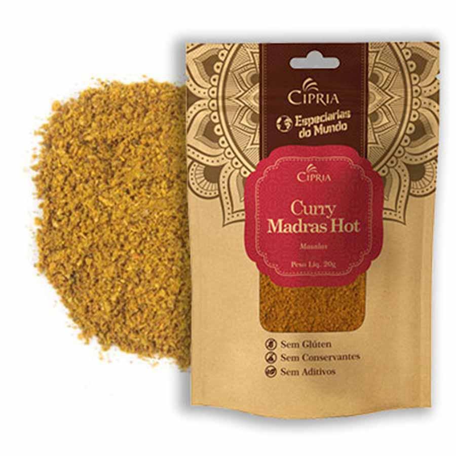 Curry Picante Madras Hot Pó 20g