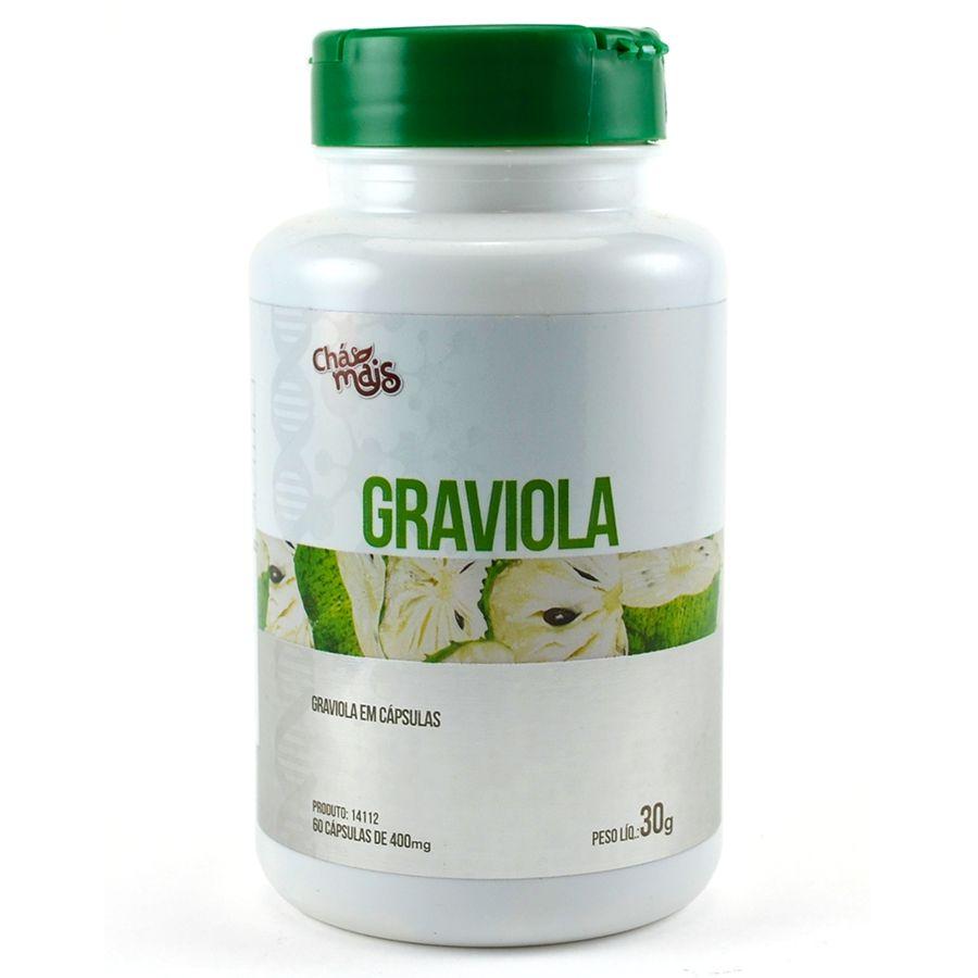 Graviola Extrato 60 Cápsulas de 400mg