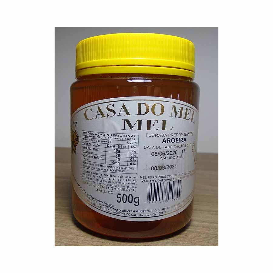 Mel Puro Flor de Aroeira - Pote 500g