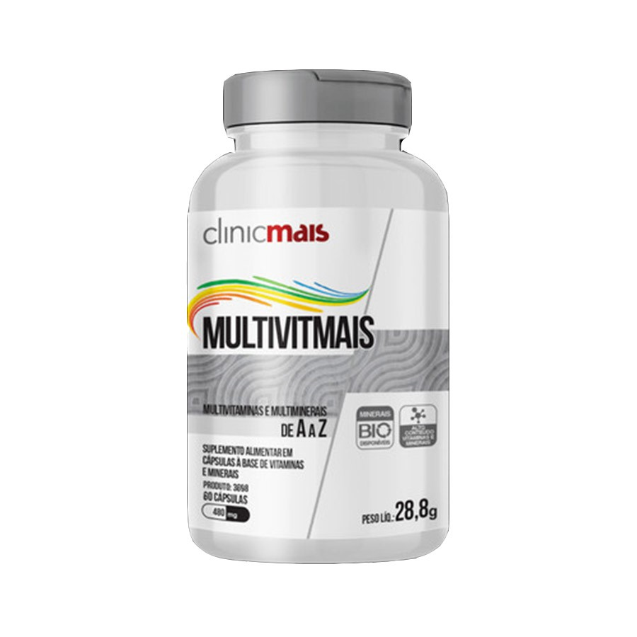 Multivitmais de A a Z 60Caps 480mg 28,8g