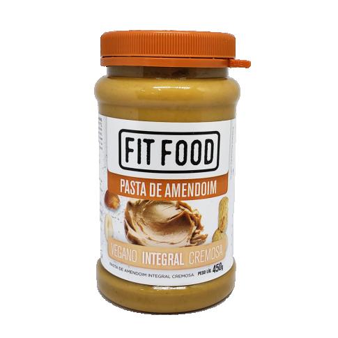 Pasta de Amendoim Integral Cremosa Fit Food 450g
