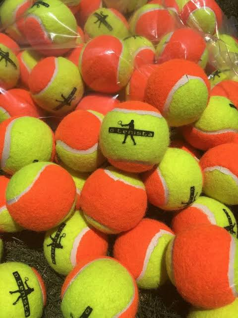 Bola de Beach Tennis 50% Laranja - Kit 7 Bolas