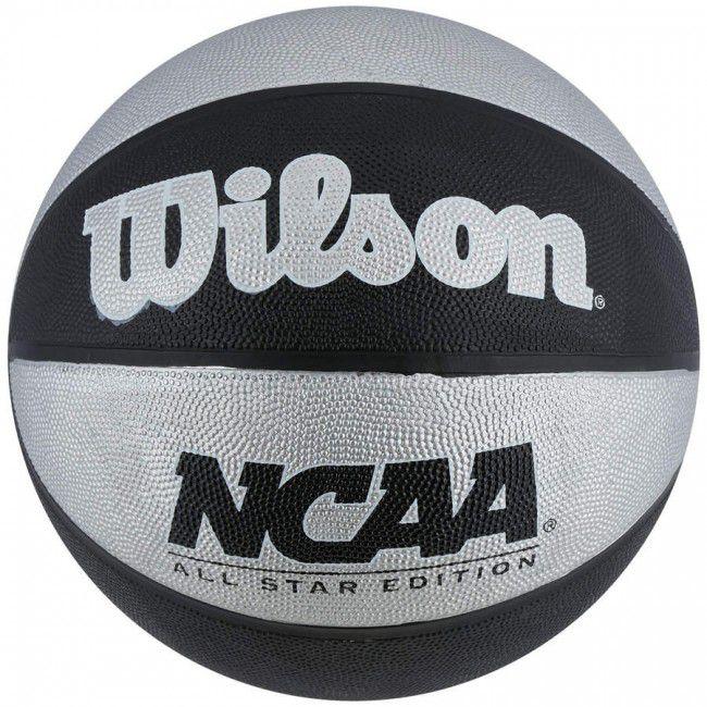 Bola de Basquete Wilson NCAA - Preto/Prata