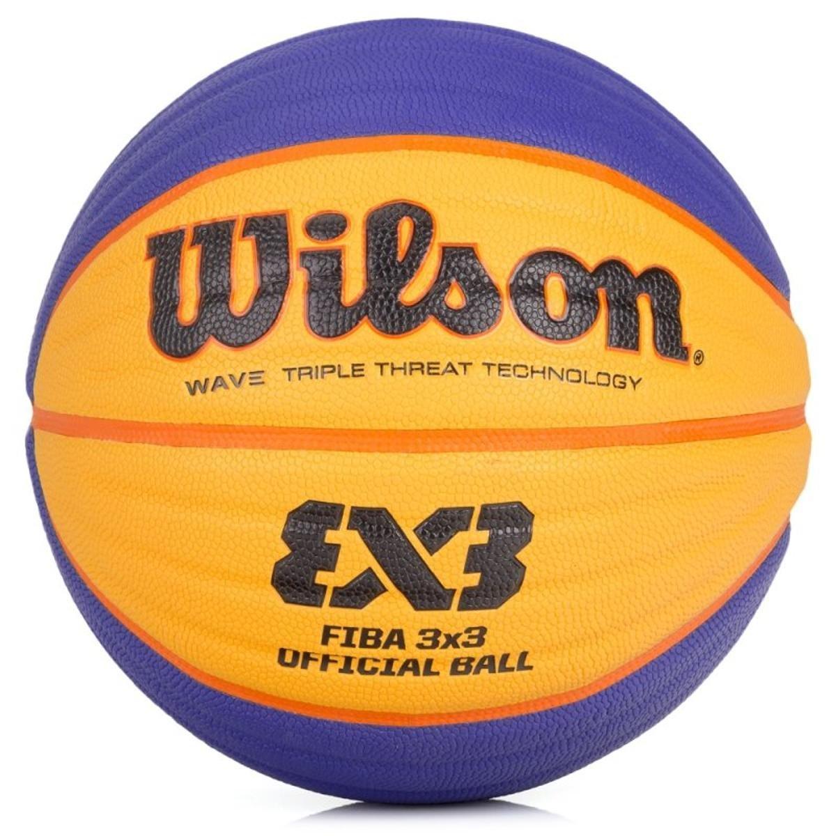 Bola de Basquete Wilson Oficial Fiba 3X3 Azul e Amarela