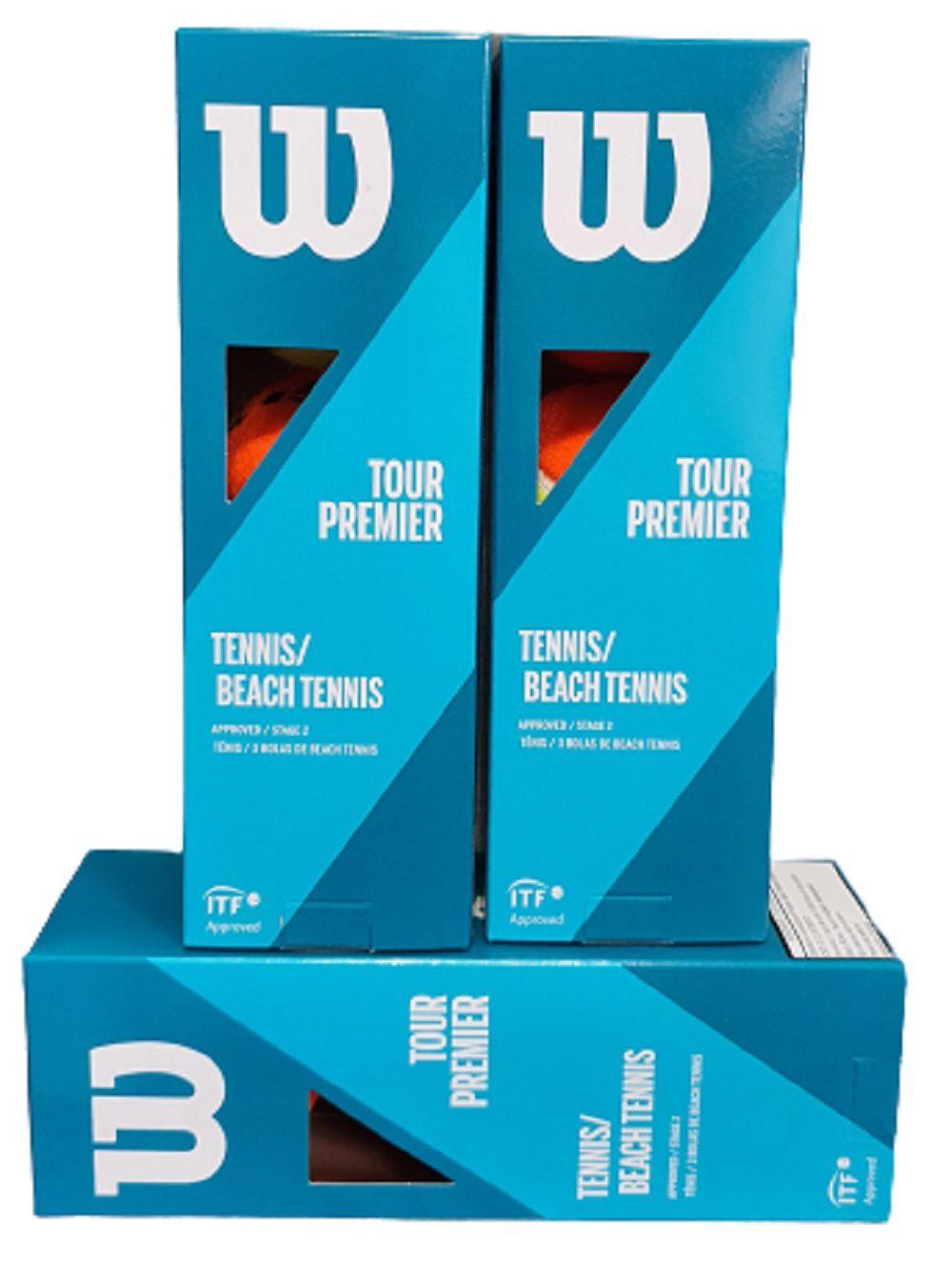 Bola De Beach Tennis Wilson Tour Premier - Pack com 3 Caixas