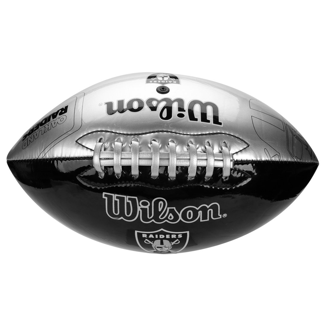 Bola de Futebol Americano Wilson NFL Raiders Preto/Prata