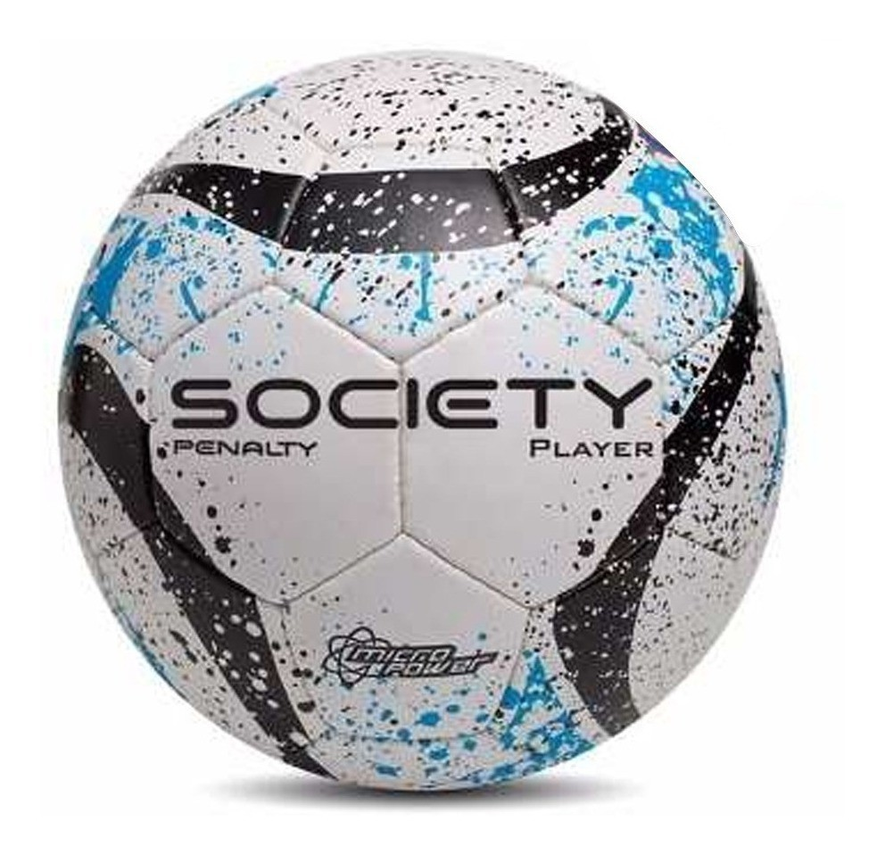 Bola De Futebol Society Player - Azul/preto