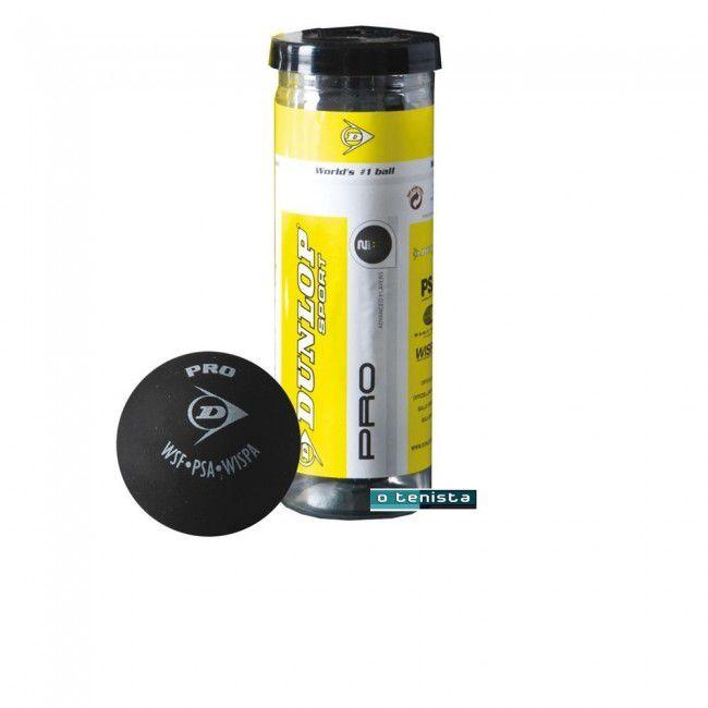 Bola de Squash Dunlop Pro XX2- Dois Pontos Amarelo -Tubo C/3