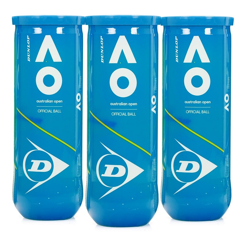 Bola de Tênis Dunlop Australian Open - Pack com 3 tubos