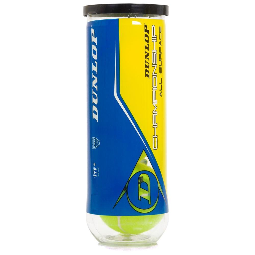 Bola de Tênis Dunlop Championship All Surface - TUBO COM 3 BOLAS