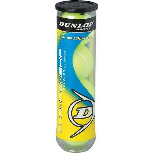 Bola Dunlop Championship Tubo - 4 bolas