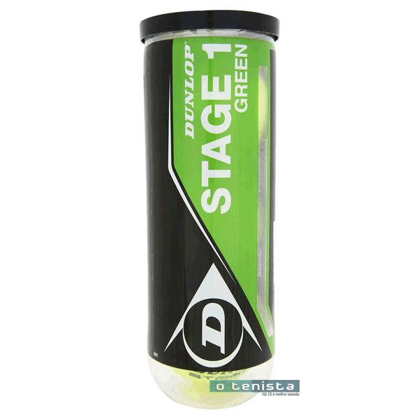 Bola de Tenis Dunlop Estagio 1 - Mini Green X3