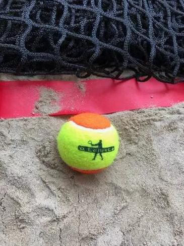 Bola de Beach Tennis Estagio 2 - Kit 4 Bola O Tenista