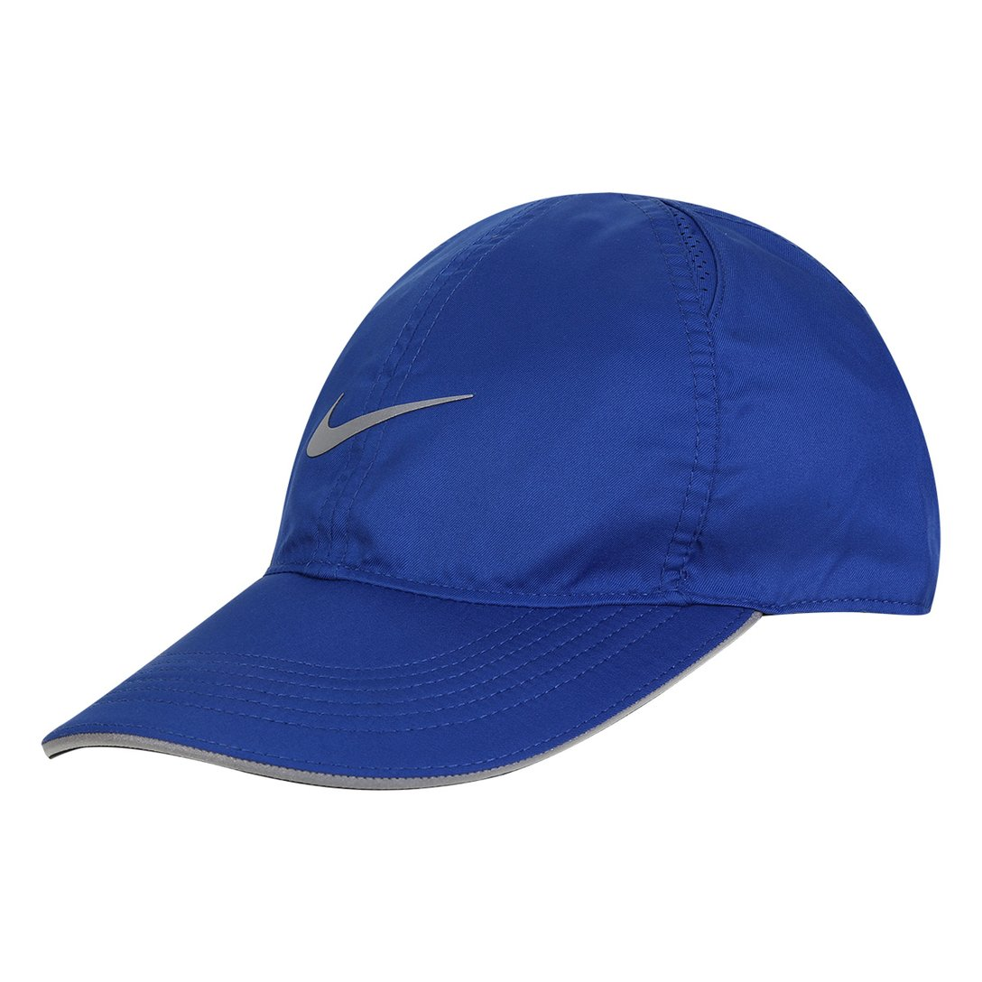 Boné Nike Aba Curva Featherlight Run - Azul Royal