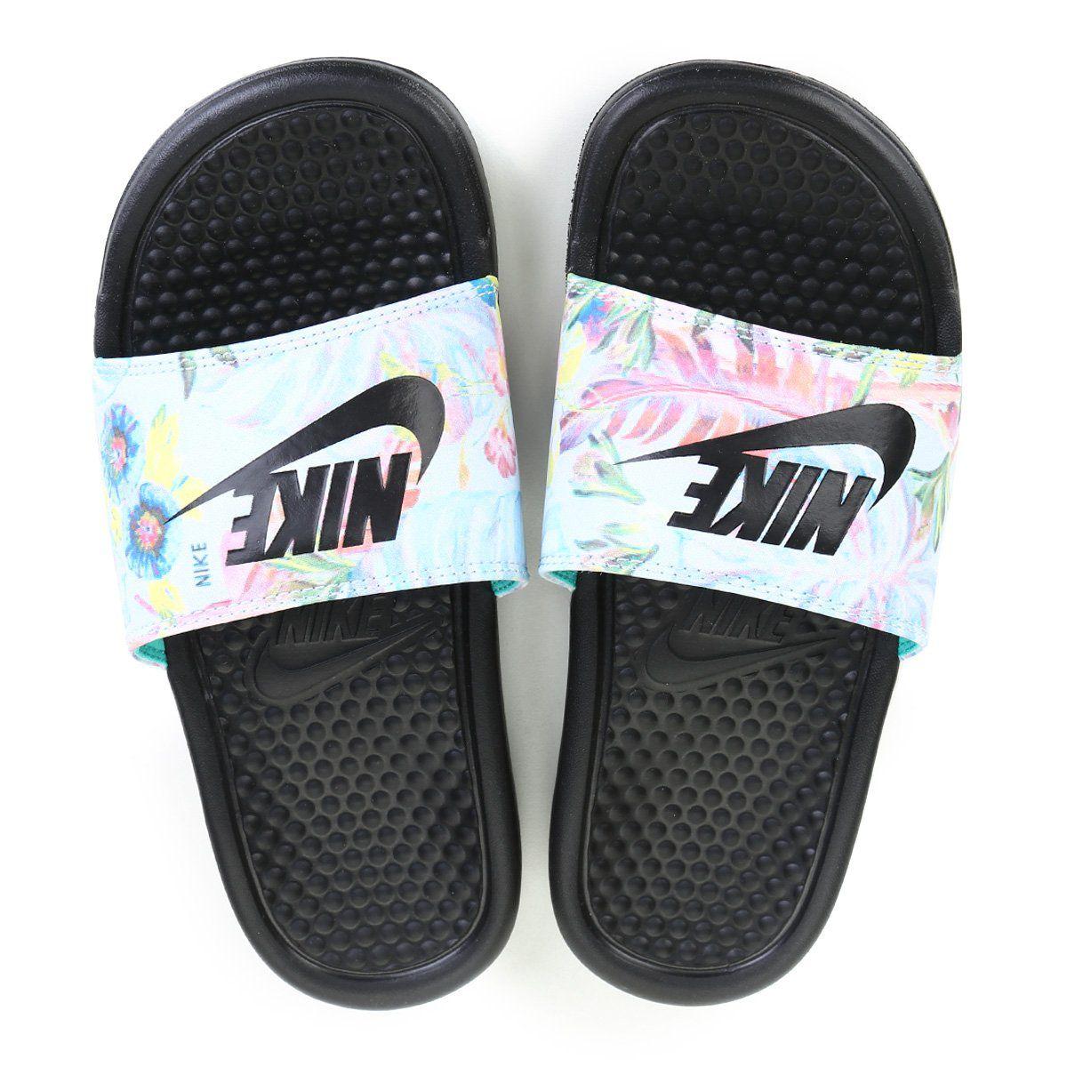 Chinelo Sandália Nike Benassi Jdi Print Feminina