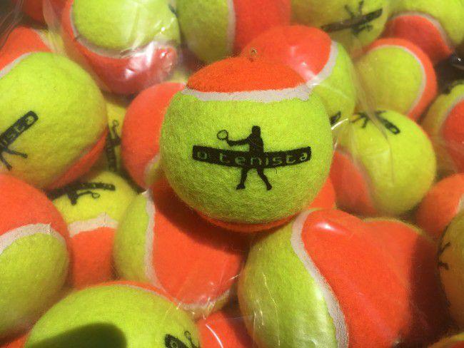 Bola de Beach Tennis Estagio 2 - Saco Com 18 bolas OTENISTA