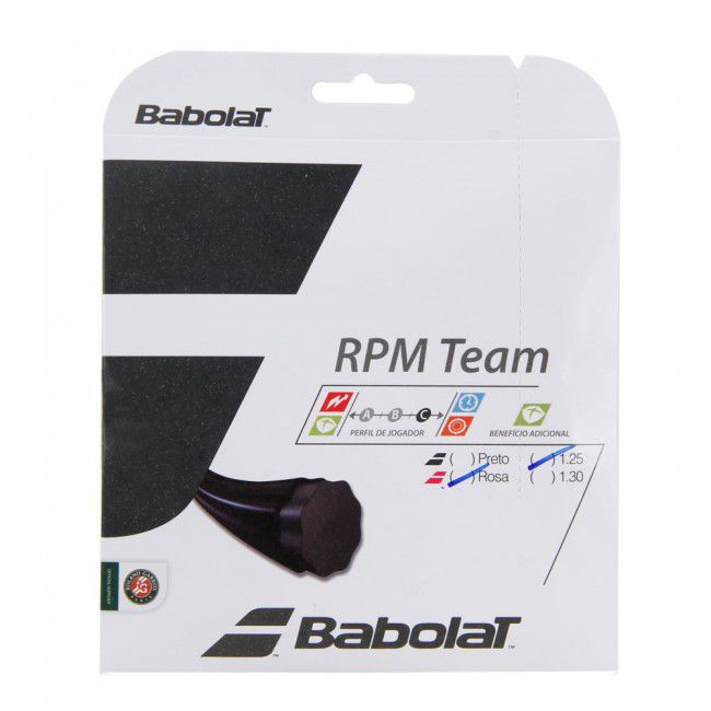 Corda Babolat Rpm Team 17L 1.25MM Preta - Set Individual
