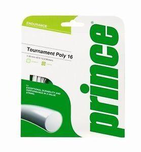 Corda Prince Tournament Poly - 16mm - Branca 116