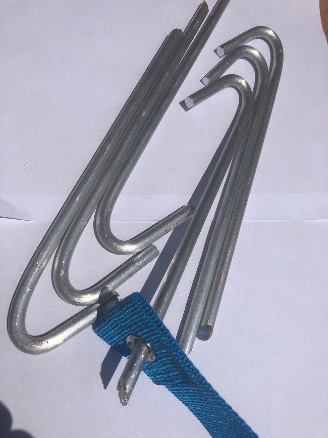 Ganchos Fixadores Grampos para faixa marcação - Aluminio Maciço