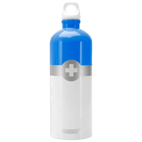 Garrafa Squeeze Swiss Shield Azul/Branco 1lt