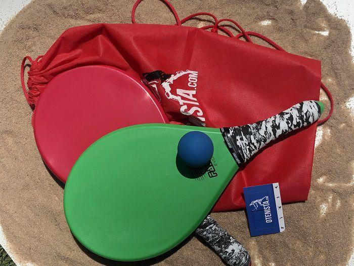 Kit 2 Raquete De Frescobol Polímero+2 Bola