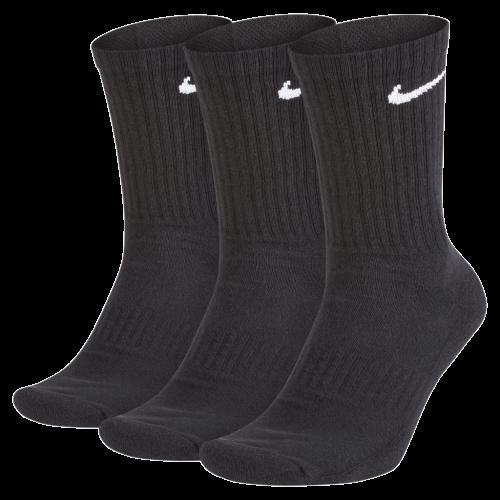 Kit 3 Meias Nike Cano Longo Brancas/Pretas