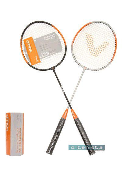 Kit Badminton 2 Raq. 3 Petecas De Nylon Xd016