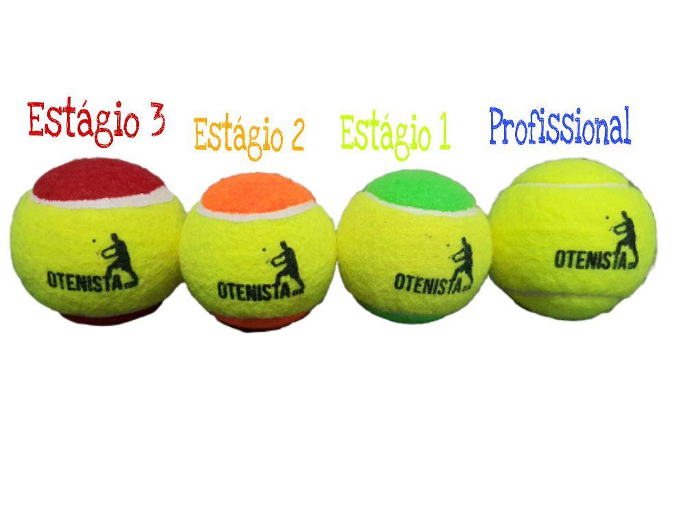 Kit de Bola Com Estágios Diferentes para Tênis